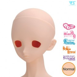 VOLKS DD Dollfie Dream Doll DDH-01 Eye Hole Open Soft Cover ver. Normal Head Color Cabeza