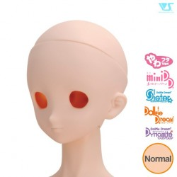 VOLKS DD Dollfie Dream Doll DDH-05 Eye Hole Open Soft Cover ver. Normal Head Color Cabeza