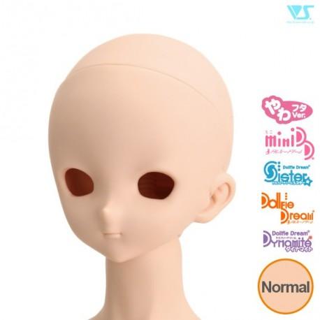 VOLKS DD Dollfie Dream Doll DDH-09 Eye Hole Open Soft Cover ver. NATURAL Head Color Cabeza