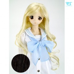 [FMDL-M06] Natural Black Doll Wig Pullip BJD 8-9 1/3 SD Peluca
