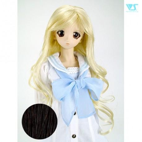 [FMDL-M06] Natural Black Doll Wig Pullip BJD 8-9 1/3 SD Peluca