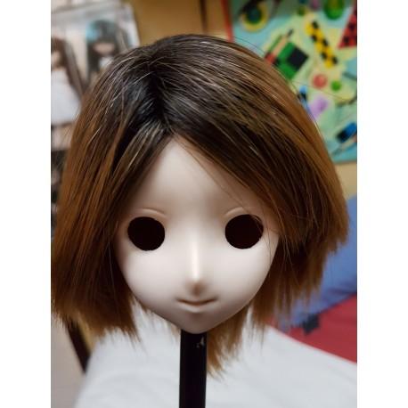 "1/3 8-9"" BJD Pullip Wig Mohair DollHearts Curly"