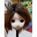 "1/3 8-9"" BJD Pullip Wig VOLKS dark brown 2 tone"