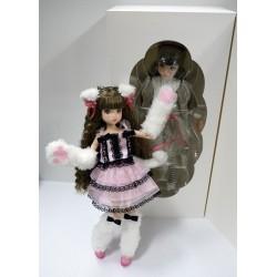 "PETWORKS® RURUKO DOLL MUÑECA ""GRAY CAT LONG HAIR WITH EXTRA DRESS"" NEW MINT IN BOX (NIB)"