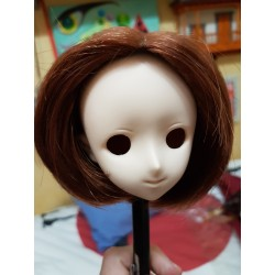 "1/3 8-9"" BJD Pullip Wig VOLKS brown short bob"