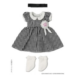 Kinoko Planet [Hug Me ! Rosette One-Piece Dress Set] Purple Check