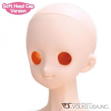 VOLKS DD Dollfie Dream Doll DDH-4 Eye Hole Open Soft Cover ver. NATURAL Head Color Cabeza