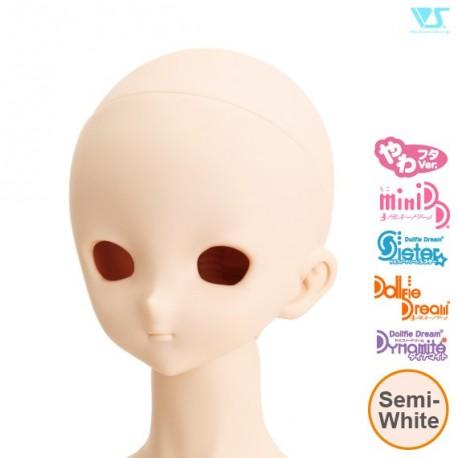 VOLKS DD Dollfie Dream Doll DDH-10 Eye Hole Open Soft Cover ver. SEMI-WHITE Head Color Cabeza