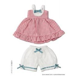 Kinoko KIKIPOP Planet [Hokkori Usa-chan Hoodie Hooded Dress Set] PINK Check