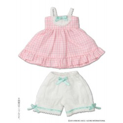 "KIKIPOP! - Kinoko Planet ""Gingham Baby Doll Set"" Strawberry"