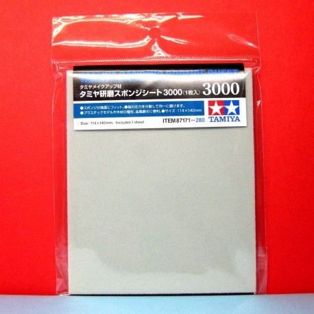 Tamiya Sanding Sponge Esponja Lija 2000. Id: 87170