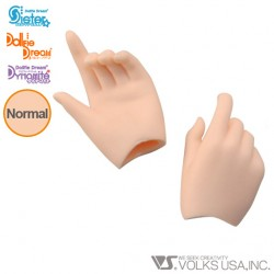 DDII-H-02 VOLKS DOLLFIE DREAM HANDS POINTING HAND NORMAL