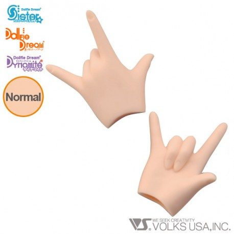 DDII-H-10B VOLKS DOLLFIE DREAM HANDS LOVE HAND NORMAL