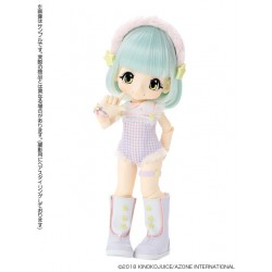 Muñeca Azone Hello Kikipop Kinoko Juice Pipipoppi Blue Pop Doll NEW