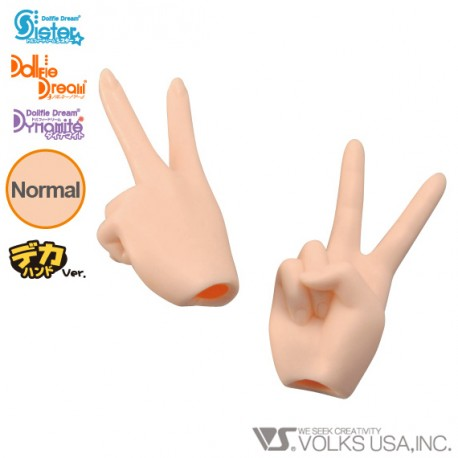 DDII-H-02 VOLKS DOLLFIE DREAM HANDS PEACE HAND NORMAL