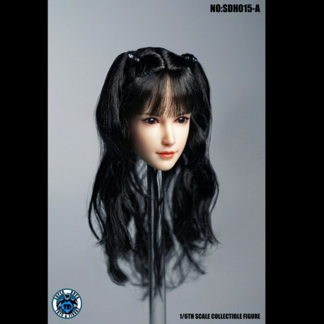 "SUPER DUCK SDH015 A 1/6 Scale Female Head Sculpt Fit for 12"" Action Figure Body"