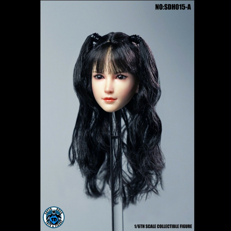 "SUPER DUCK SDH015 A 1//6 Scale Female Head Sculpt Fit for 12/"" Action Figure Body"