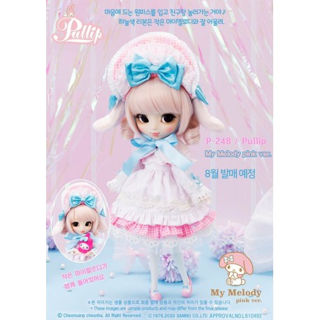 [PREORDER LATE SEPTEMBER 2020] Muñeca Pullip Groove Sanrio My Melody Pink Doll NEW