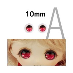 【doll eyes】Anime Basic Eyes Iris A 10mm purple