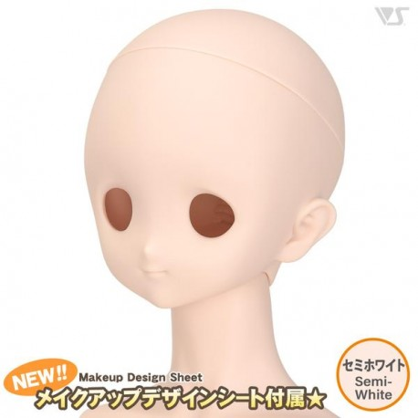 VOLKS DD Dollfie Dream Doll DDH-22 Eye Hole Open Soft Cover ver. Normal Head Color Cabeza