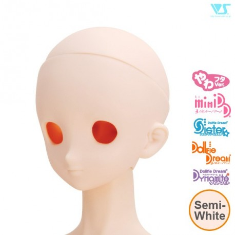 VOLKS DD Dollfie Dream Doll DDH-03 Eye Hole Open Soft Cover ver. Semi-White Color Cabeza
