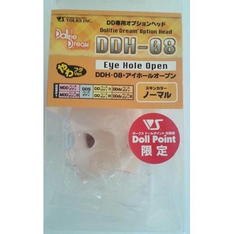 VOLKS DD Dollfie Dream Doll DDH-08 Eye Hole Close Soft Cover ver. Natural Color Cabeza
